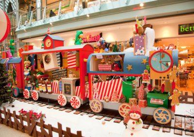 Christmas Train Mäuse und Wasch Wagen