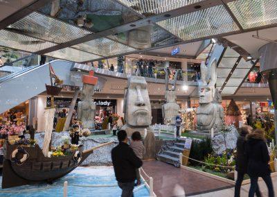 Die Ausstellung das Geheimnis der Osterinsel im City Point in Kassel