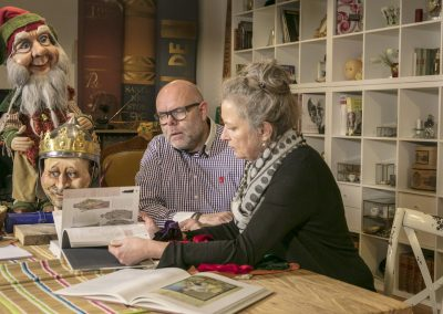 Kathrin und Harald von Hippel planen eine neues Projekt mit beweglichen Figuren