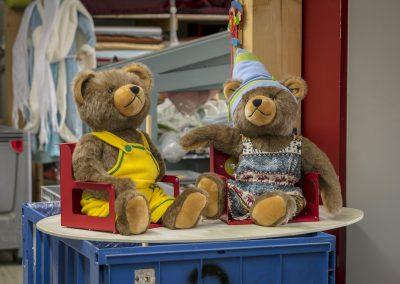 Teddybären warten auf die Verpackung